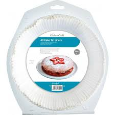 Kitchen Craft Non Stick Round Paper Cake Tin Liners 16 Cm Pack Of