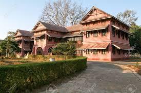 British Colonial Houses Of Pyin U Lwin On Myanmar Stock Photo