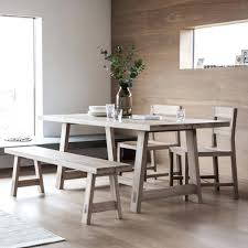 Living Oak Dining Table And Bench Set By Modish For Light Decorations 5 Room Chairs Sale
