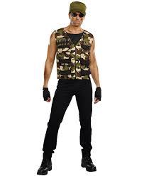 Friendly Fire Camo Costume Military Army Commando Adult Men ...