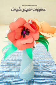 Paper Poppies DIY Red And Pink