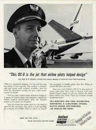 United Airlines Dc 8 Capt W E Rhoades Photo 1960