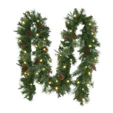 Pre Lit Christmas Tree Replacement Bulbs by Home Accents Holiday Christmas Wreaths U0026 Garland Christmas