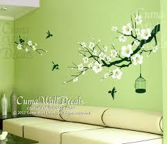 cherry blossom wall decal birds wall decals flower vinyl by cuma
