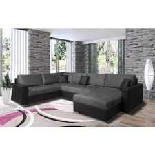 canapé panoramique tissu canapé d angle gauche panoramique convertible 5 places tissu simili