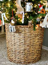 Use A Big Basket As Tree Stand