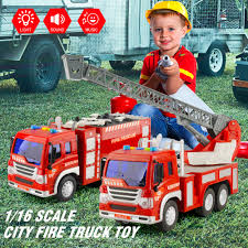 100 Fire Trucks Toys US 2008 36 OFF2pcs Literal Truck Set 116 Scale Fighting Car Educational Traffic For Children Inertial Truck For Baby Kidsin