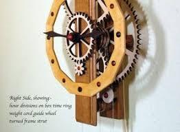 Free Scroll Saw Wooden Gear Clock Plans by 21 Best Wooden Gear Clocks Images On Pinterest Wooden Gears