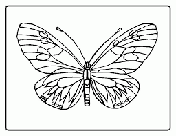 Free Printable Butterfly Coloring Pages For Kids Simple Monarch