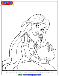 Fancy Coloring Pages Rapunzel 55 With Additional Site