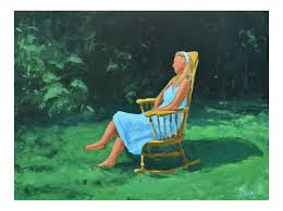 Painting Of A Woman Sitting In A Rocking Chair Outside Vis Vis Club Chairrocking Chair Trib Custom Rocking Chairs Comfortable Refined And Elegant Gary People Relaxation Retirement Rocking Stock Photos The Peoples Fredericia Chair J16 Eames Is Not Just For Babies Old People Chairish Two Amazoncom Adults Heavy Outdoor Indoor Rar Green Check Out Costway Patio Glider Bench Double 2 Person Loveseat Armchair Backyard New Shopyourway Order A Custom Hand Made Wooden In Uk Ireland Comfortable Chairs By Weeks Company