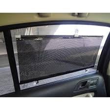rideau pare soleil rétractable pvc noir 125 x 50cm pour fenêtre