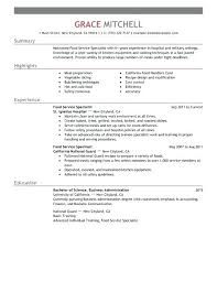 Customer Service Resume Profile Food Specialist Example Statement Examples