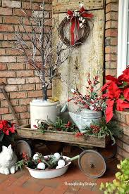 Vintage Cart With Watering Cans Pots And Evergreens