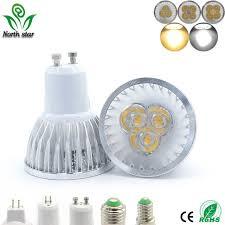 led bulb spotlight e27 e14 gu10 gu53 220v mr16 12v 9w cob chip