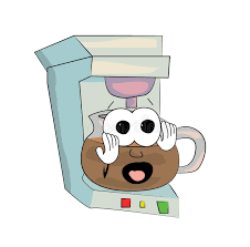 Download Scared Coffee Maker Cartoon Stock Illustration
