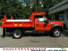 100 Ford F450 Dump Truck 2010 Bright Red Super Duty Regular Cab 4x4 Chassis