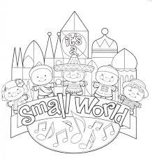 Its A Small World Coloring Page