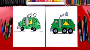 How To Draw A Garbage Truck - Art For Kids Hub -