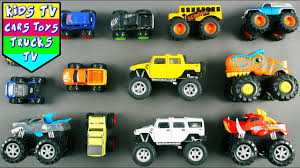 100 Kids Monster Trucks Video For Children Babies Toddlers Truck Song TV Cars