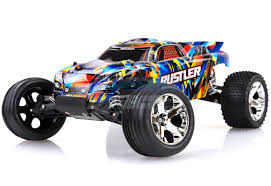 37054-4 | Traxxas 1/10 Rustler Electric Brushed RC Stadium Truck (No ...