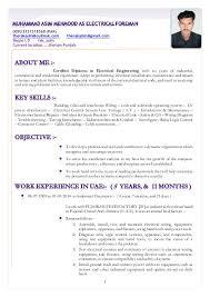 Electrical Foreman Resume