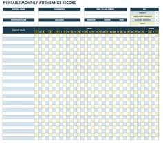 This Monthly Template Supplies A Grid Layout For Tracking Attendance And Adding Daily Totals Each Student As Well The Classroom Whole