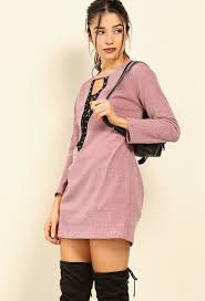 lace up sweater dress shop day dresses at papaya clothing