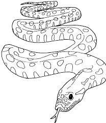 Coloring Pages Snakes Garter Snake Page Of Anaconda