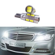 2x t10 car led w5w canbus projector lens parking light bulb for