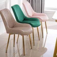 nordic trendy goldene eisen metall esszimmer stuhl dressing