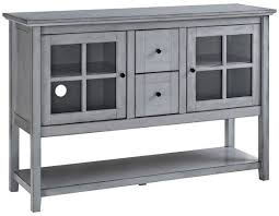 Walker Edison 52 Wood Console Table Buffet TV Stand