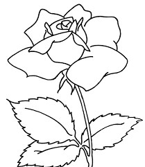 Rose Colouring Pages Children Coloring Page