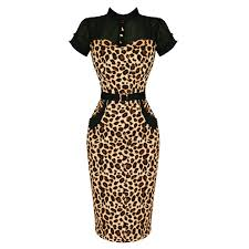 banned brown leopard rockabilly pinup vintage 50s cocktail party