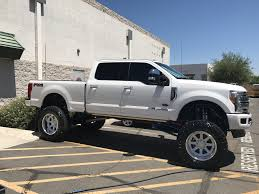 2017 Ford F-250 Platinum 10in Bullet Proof Suspension Powder Coated ...