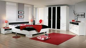 Red Bedroom Decor White And Black Ideas