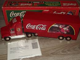 Coca Cola 1998 Holiday Caravan Truck Semi Mint In Box Limited ... Rare Vintage 1950s 50 Buddy L Cocacola Coke Delivery Truck Baby Piano And Vintage Buddy Dump Truck Cacola Pressed Steel Delivery Model By Cacola Trucks Trailers 1979 Set In Box Trucks For Sale Pictures Coca Cola Gmc 550 Cab Circa 1960 Coca Cola Wbox Mack Collectors Weekly Japan Complete Whats It Worth 43 Paper Plates Cups With Lids Images Toy