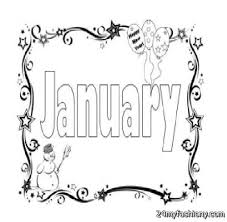 January Coloring Pages Images 2016 2017