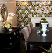 Awesome To Do Dining Room Wallpaper Accent Wall Wallpapered Contemporary SVZ Interior For In