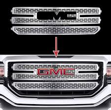 2016-18 GMC Sierra 1500 CHROME Snap On Grille Overlay 3 Bar Grill ... The 2018 Jeep Jl Wrangler Mtains Style With 10 Unique Looks From Remington Edition Offroad 62017 Gmc Sierra 1500 Denali Grilles Go Rhino Grille Guard Custom Trucks Grills Chromeblack Front Bumper Rebel Mesh For 32018 Ram Hogebuilt Freightliner Semi Classic And Fld 120 Stainless Headlights Of Modern Semi Trucks Like The Eyes Mouth Sinister Goat Skull Machined Airbrushed Logo Royalty Core Best Image Of Truck Vrimageco Chevy S10 Swap Lmc Mini Truckin Magazine Coeur D Alene Grill Lights Dodge Challenger Resource