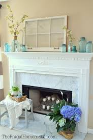 Simple Blue Blooms Spring Mantel Ringing In Home Tour
