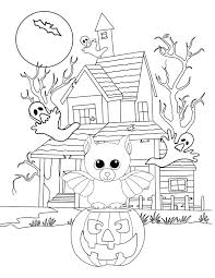 Beanie Boo Halloween Coloring Page Bat
