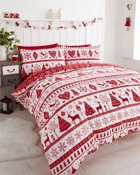 Father Christmas Tree Santa Claus Reindeer Stag Quilt