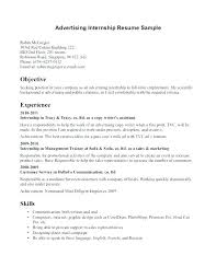 Example Of Internship Resume Cover Letter Culinary
