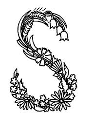 Floral Alphabet Coloring Pages Flower Fairies W Book