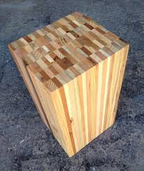 recycled pallet wood stool end table pallet furniture diy