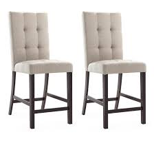 CorLiving Bistro Dining Chairs In Platinum Sage Tufted Fabric, Set Of 2
