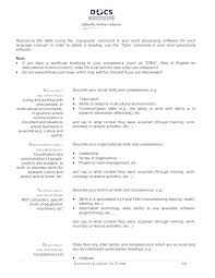 Table International Resume Template Free Download
