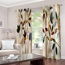 wafjj vorhang blickdicht ösenschal vintage blumen thermo gardinen blickdicht vorhänge für kinderzimmer schlafzimmer gardine größe 2x b140 x h175cm
