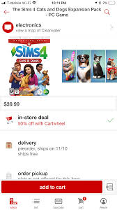 Target] The Sims 4: Cats And Dogs Expansion ($19.99/50% Off ... Origin Coupon Sims 4 Get To Work Straight Talk Coupons For Walmart How Redeem A Ps4 Psn Discount Code Expires 6302019 Read Description Demstration Fifa 19 Ultimate Team Fut Dlc R3 The Sims Island Living Pc Official Site Target Cartwheel Offer Bonus Bundle Inrstate Portrait Codes Crest White Strips Canada Seasons Jungle Adventure Spooky Stuffxbox One Gamestop Solved Buildabundle Chaing Price After Entering Cc Info A Blog Dicated Custom Coent Design The 3 Island Paradise Code Mitsubishi Car Deals Nz Threadless Store And Free Shipping Forums